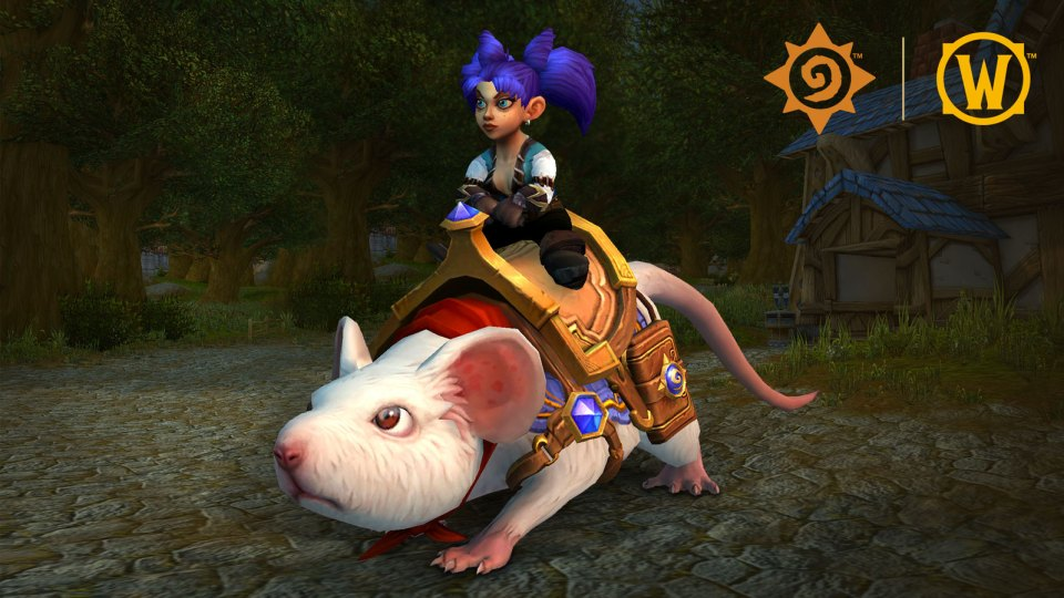 Sarge is coming to WoW as a mount! Pictured with a gnome riding it in WoW.