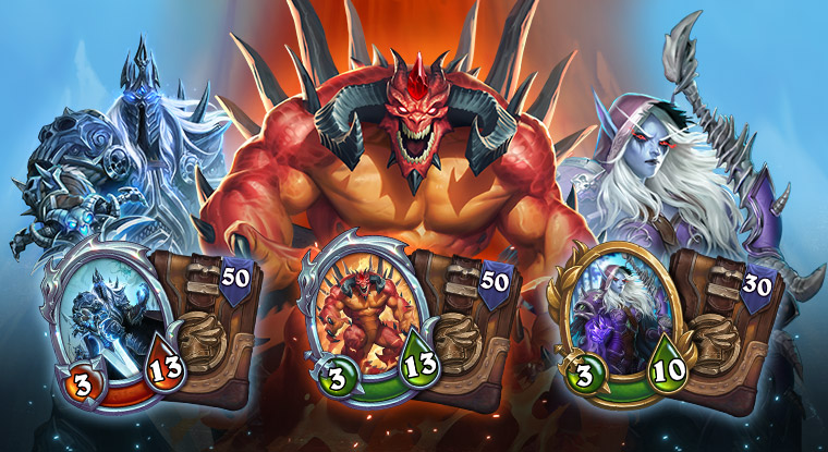 the Lich king bundle includes the lich king Merc and 50 packs, the Diablo bundle includes the Diablo Merc and 50 packs, the sylvanas bundle includes the Sylvanas Merc and 30 packs.