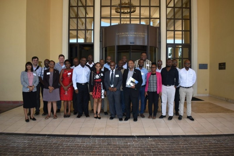 Participants at inaugural meeting for the LIMCOM Groundwater Committee (Photo credit: SADC-GMI)