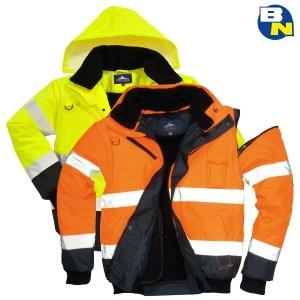 Abbigliamento Pro bomber bicolore alta visibilità