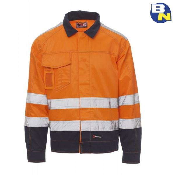 Abbigliamento-Pro-giubbino-ad-alta-visibilità-invernale-arancio