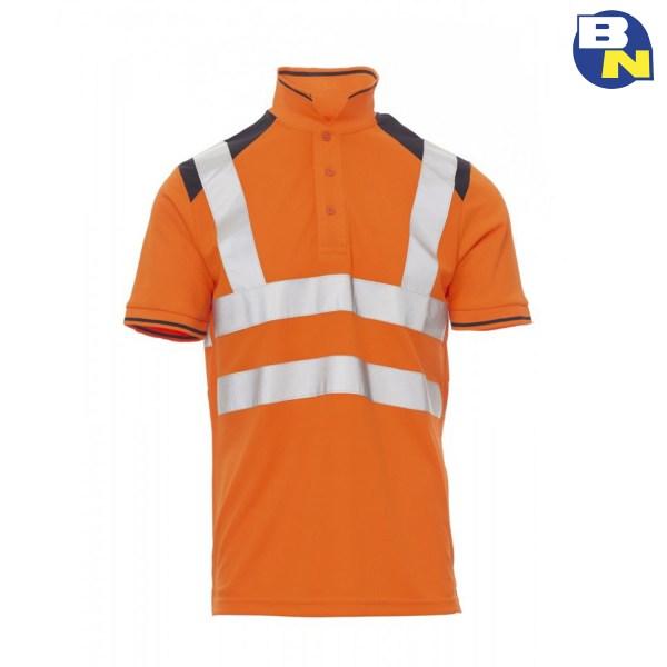 Abbigliamento-Pro-polo-ad-alta-visibilità-arancio