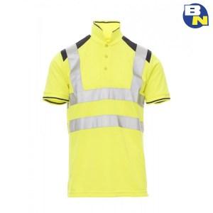 Abbigliamento-Pro-polo-ad-alta-visibilità-gialla