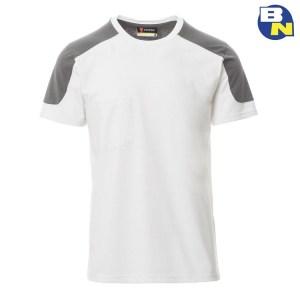 t-shirt bicolore bianca