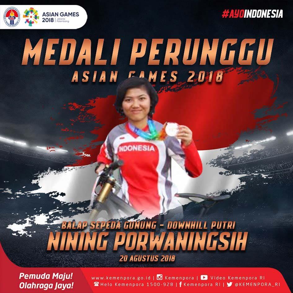 PEROLEHAN SEMENTARA MEDALI ASIAN GAMES 2018 INDONESIA