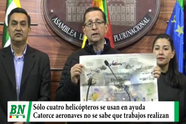 Senador Ortiz denuncia que de 18 Helicópteros comprados sólo cuatro se usan para ayudar en La Chiquitania