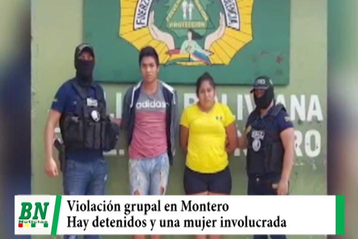 Cuatro personas acusadas de violación grupal a menor en Montero