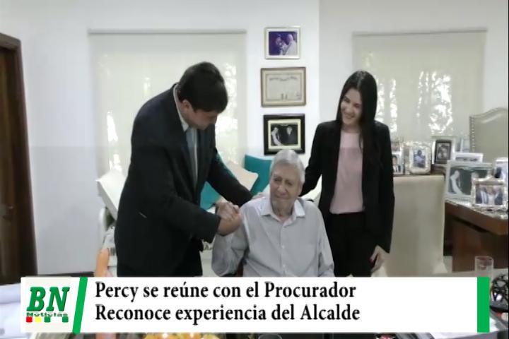 Procurador José Cabrera y Percy se reúnen junto a la Directora Departamental