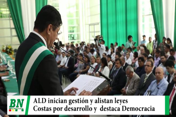 ALD inicia gestión y alista leyes, Costas por desarrollo y destaca lucha por la Democracia
