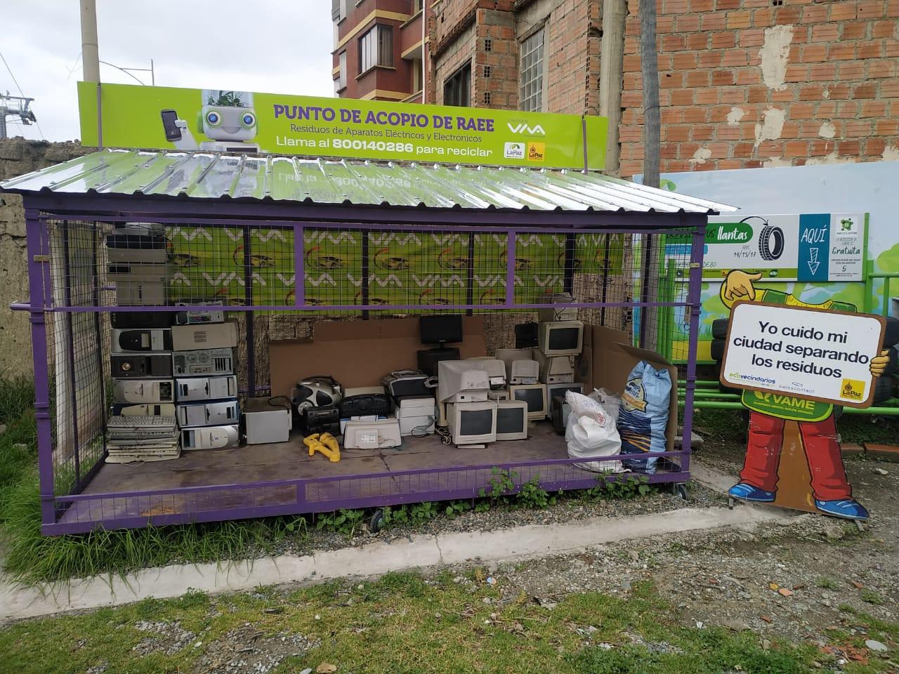 Fundación VIVA instala contenedor  especial de residuos electrónicos en La Paz