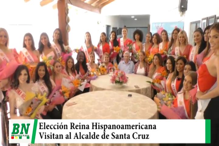 Candidatas a Reina Hispanoamericana visitaron al Alcalde Percy Fernandez