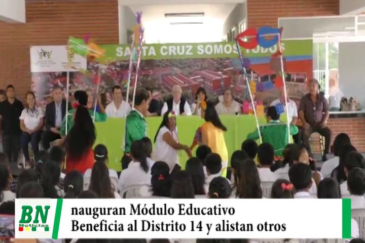 Municipio inaugura Módulo Educativo 197 en Distrito 14 y alistan en otros barrios