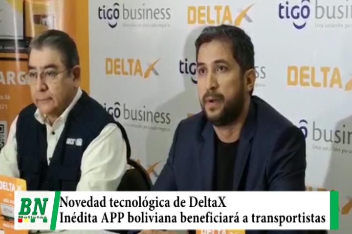 Novedad tecnológica de DeltaX, inédita APP boliviana beneficiará a transportistas