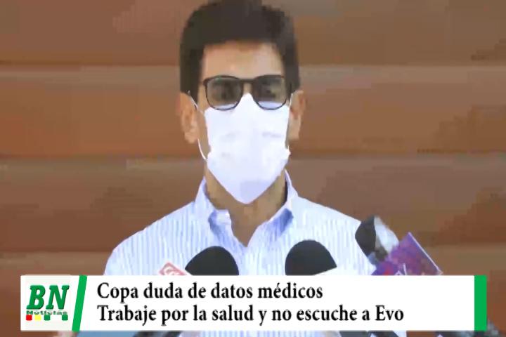 Eva Copa duda de enfermedad de ministros y Presidenta y Senador de UD le pide no escuchar a Evo y trabajar por la salud