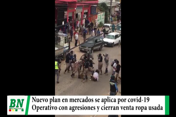 Aplican nuevo plan mercados y en operativo denuncian agresiones, cierran venta de ropa usada