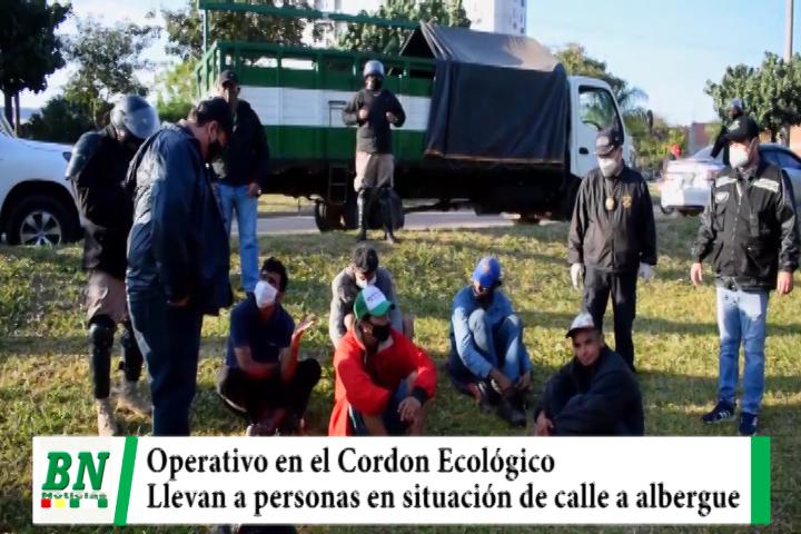 Operativo en el Cordón Ecológico llevan a personas en situación de calle a albergue