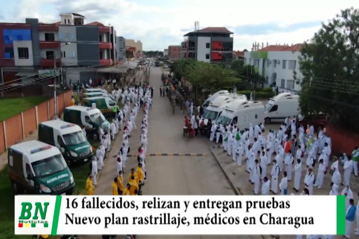 Alerta coronavirus, 16 fallecidos y realizan muestras en mercados y salubristas reciben pruebas, nuevo plan rastrillaje y Charagua con atención