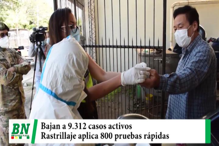 Alerta coronavirus, Bajan a 9,312 los casos activos y tres municipios se mantienen libre, rastrillaje aplico 800 pruebas rápidas