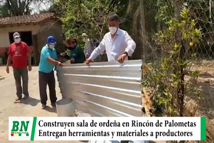 Productores de leche reciben materiales y herramientas para construir sala de ordeña
