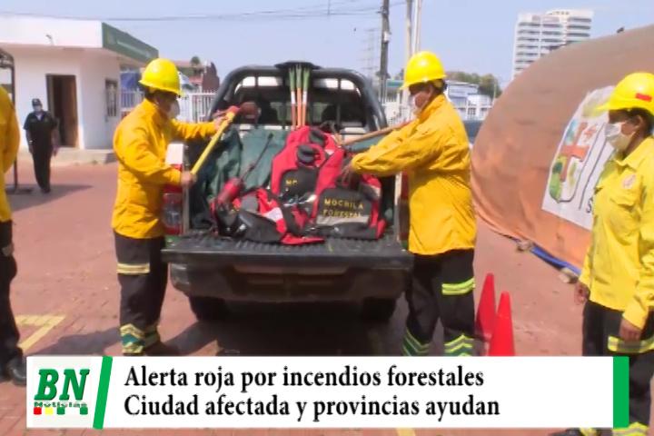 Declaran alerta roja por incendios forestales y envían ayuda, aire en la ciudad afectado