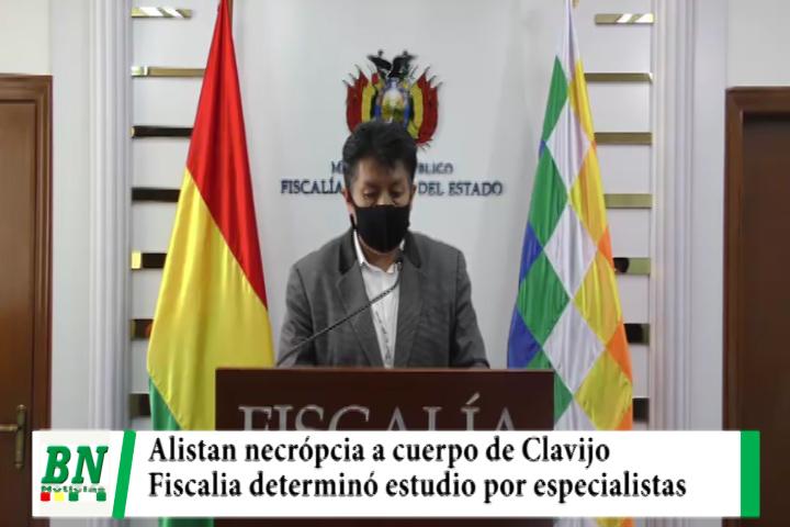 Fiscalía alista necrópcia a supuesto cuerpo de Clavijo que será estudiado por 12 especialistas