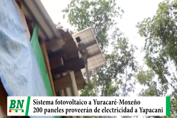 Gobernación entrega 200 paneles fotovoltaicos que proveerá electricidad a Yuracaré-Moxeño