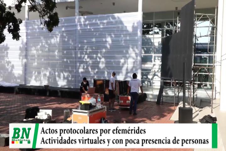 Autoridades preparan actos protocolares virtuales por efemérides Departamental
