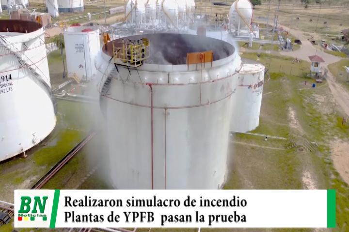 YPFB realiza simulacro de incendio en plantas y pasan la prueba