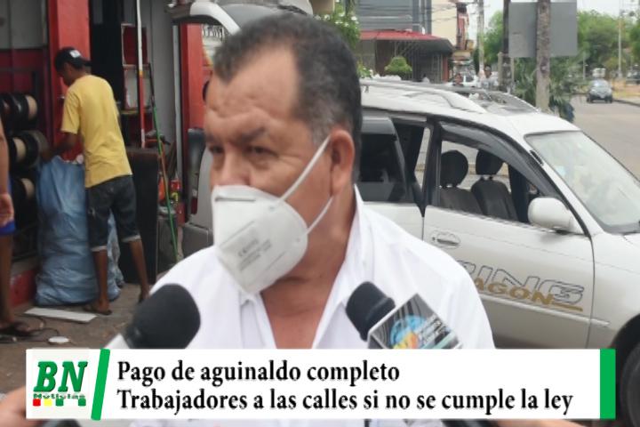 Trabajadores rechazan pago de aguinaldo en cuotas y saldrán a las calles