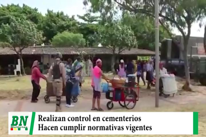 Realizan control en los cementerios y desalojan a venteros ambulantes de sus alrededores