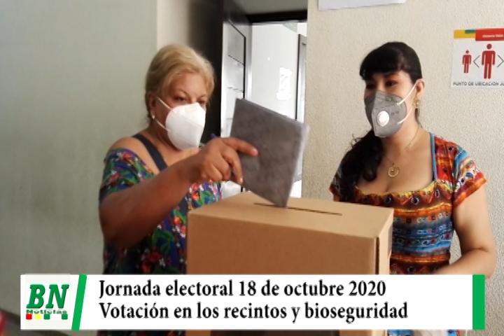 Elección 2020, Jornada desde apertura al cierre, autoridades presentes y pedido de cuidados de bioseguridad