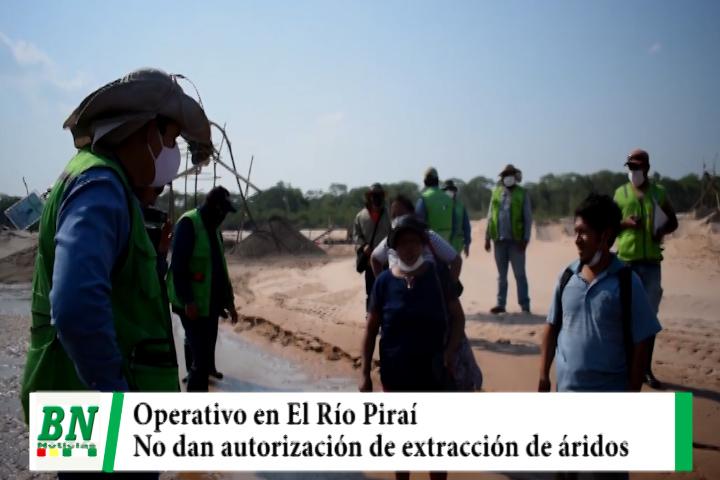 Operativo en El Río Piraí contra dragas ilegales, aseguran que no dan autorización de extracción de áridos