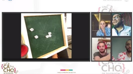 El tradicional 'cacho' se juega en un junte virtual con amigos de la marca Casa Real