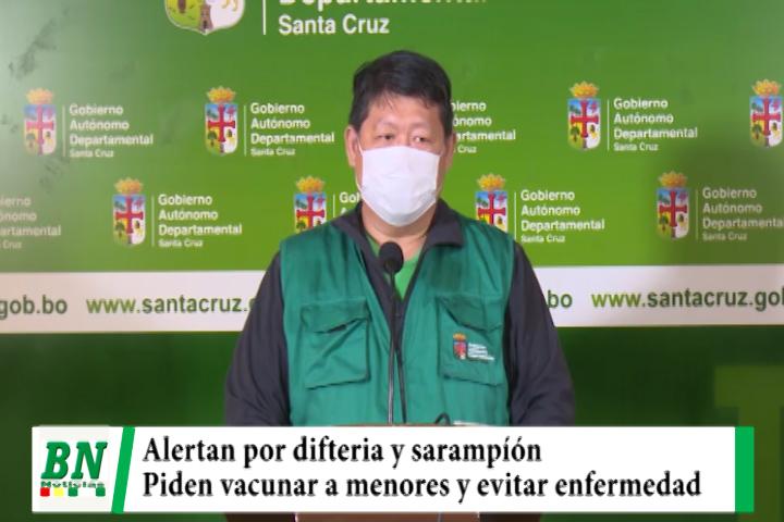 Sedes alerta de brote por difteria y sarampión y pide a la población vacunar a menores