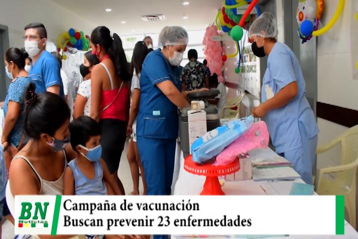 Iniciaron campaña de vacunación para prevenir 23 enfermedades y la atención será permanente