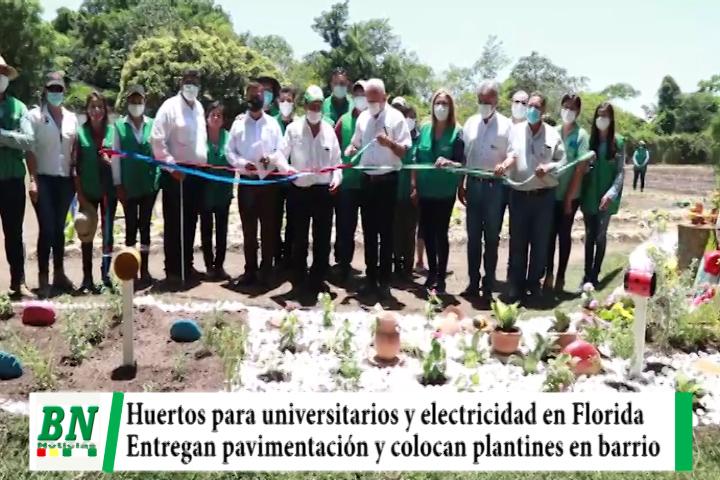 Costas entrega huerto y electrificación mientras Sosa pavimento y arborización en barrio