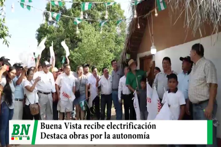 Costas entrega electrificación a Buena Vista y destaca que obras llegan a provincias por autonomía