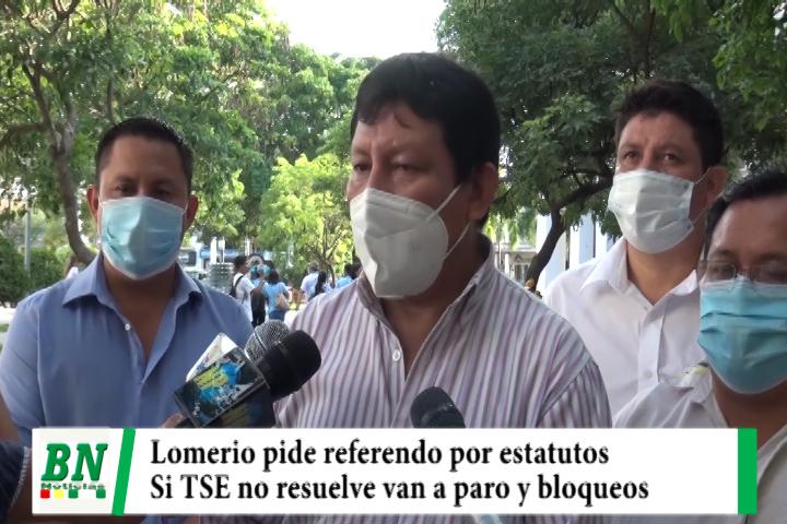 Autoridades de San Antonio de Lomerio piden al TSE  referendo por estatutos, preparan bloqueos y paro si no aceptan