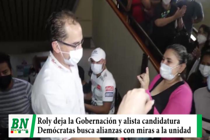 Roly Aguilera deja la Gobernación y se alista para ser candidato a Gobernador, Demócratas busca alianzas
