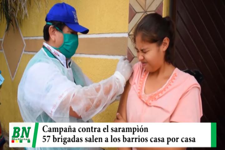 Municipio envía a 57 brigadas médicas a los barrios para vacunar contra el sarampión casa por casa