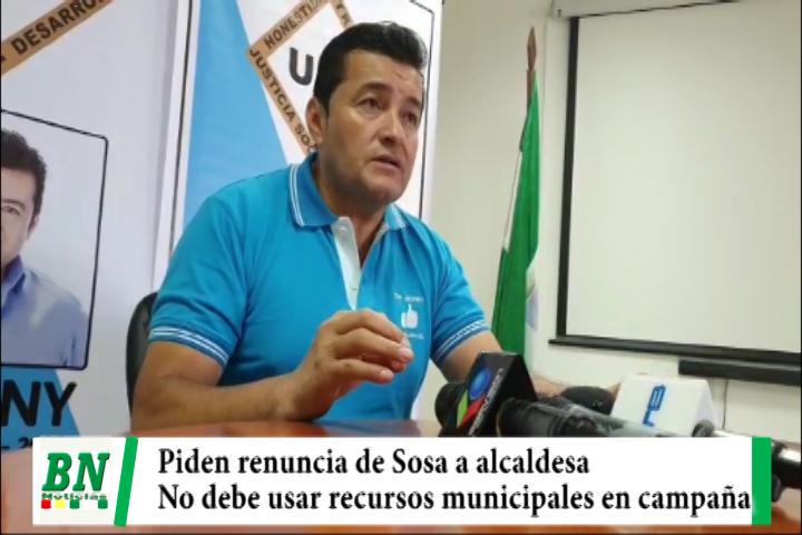 Elección 2021, Johnny Fernandez le pide a Angélica Sosa renunciar como alcaldesa interina y no usar recursos municipales