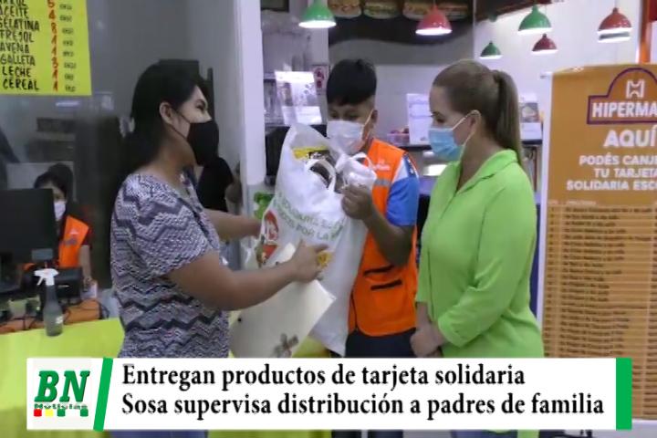 Entregan productos de la tarjeta solidaria y alcaldesa supervisa la distribución