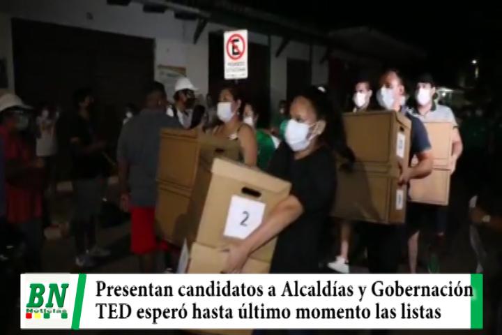Presentan candidaturas en medio de renuncias en MDS y agresiones en el MAS, TED esperó hasta último minuto