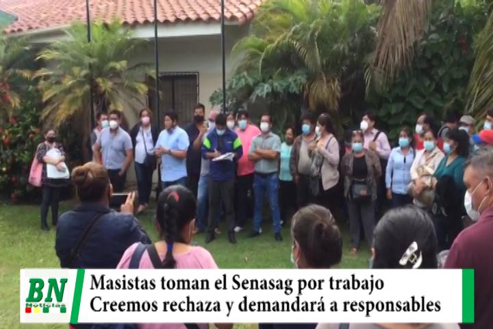 Gente del MAS toma el Senasag y Creemos pide informe a ministro y demandará ante la fiscalía