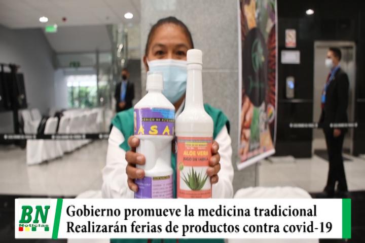 Gobierno y pequeños emprendedores promueven la medicina tradicional y realizarán ferias contra covid-19