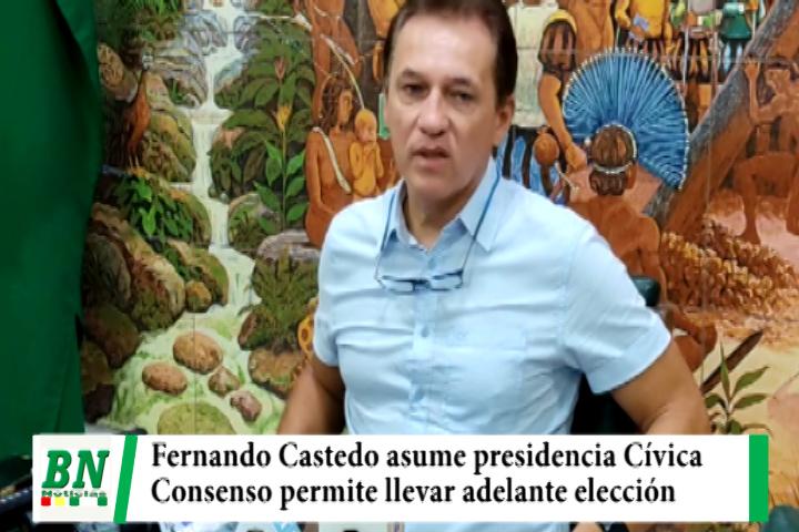 Fernando Castedo asume la presidencia Cívica ante candidatura de Calvo, consenso para elección