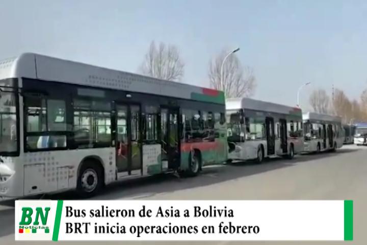 En febrero llegan lo buses para el BRT que iniciará operaciones, los vehículos ya salieron de Asia