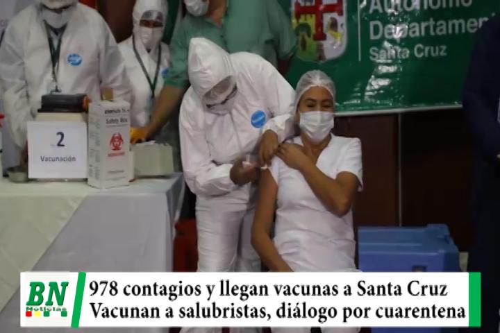 Alerta coronavirus, Hay 978 contagiados y llegan vacunas, salubristas de UTIs reciben dosis, diálogo por cuarentena rígida