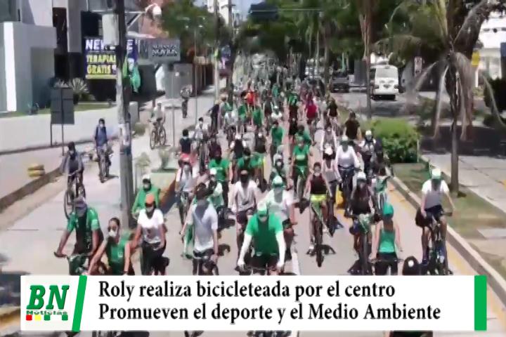 Campaña Demócratas 2021, realizó bicicleteada y Roly promueve el deporte y medio ambiente