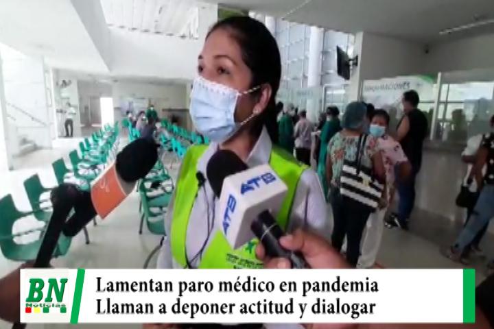 Municipio lamenta paro médico en plena pandemia y los llama a dialogar deponiendo actitud